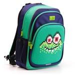 Пиксельный рюкзак с ортопедической спинкой Kids. Монстр Водяной (зеленый)