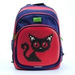 Пиксельный рюкзак с ортопедической спинкой Kids. Черная кошка