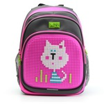 Пиксельный рюкзак с ортопедической спинкой Kids. Белый Кот