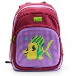 Пиксельный рюкзак с ортопедической спинкой Kids. Рыбка
