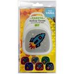 Набор пикселей-битов для рюкзаков Kids. 3 картинки. Ракета, Ням-Ням, Капитан Америка
