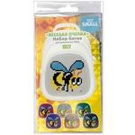 Набор пикселей-битов для рюкзаков Kids. 3 картинки. Веселая пчелка, Сердце, Смайлик
