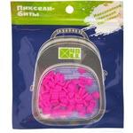 Набор пикселей-битов для рюкзаков Kids. 80 штук в упаковке. Ярко-розовый