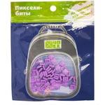 Набор пикселей-битов для рюкзаков Kids. 80 штук в упаковке. Сиреневый