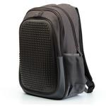 Пиксельный рюкзак с усиленной спинкой Case. Темно-коричневый