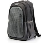 Пиксельный рюкзак с усиленной спинкой Case. Черный