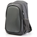 Пиксельный рюкзак с усиленной спинкой Case. Темно-серый