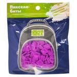 Набор пикселей-битов для рюкзаков Case. 80 штук в упаковке. Ярко-фиолетовый