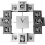 Настенные часы с фоторамками. 12 фоторамок