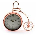 """Часы настольные """"Велосипед медный большой"""" с креплением на стену"""