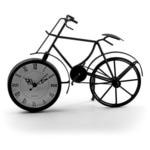 """Часы настольные """"Велосипед чёрный"""""""