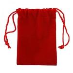 Подарочный бархатный мешочек (красный)