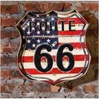 Свветящаяся вывеска Трасса 66 (флаг США)