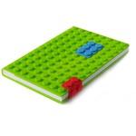 Подарочный блокнот в силиконовой обложке. Конструктор (цвет зеленый)