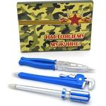 """Подарочный набор """"Настоящему мужчине"""". 3 ручки-магнита в виде инструментов (цвет синий)"""