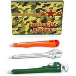 """Подарочный набор """"Настоящему мужчине"""". 3 ручки-магнита в виде инструментов"""