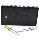 """Подарочный набор. Блокнот """"Нож"""" + 2 ручки в виде ножей"""